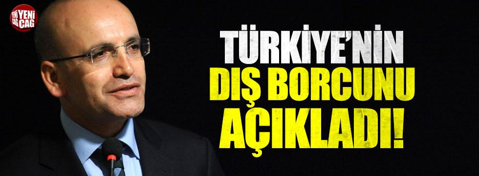 """Şimşek: """"Türkiye'nin dış borcu yaklaşık 453 milyar dolar"""""""