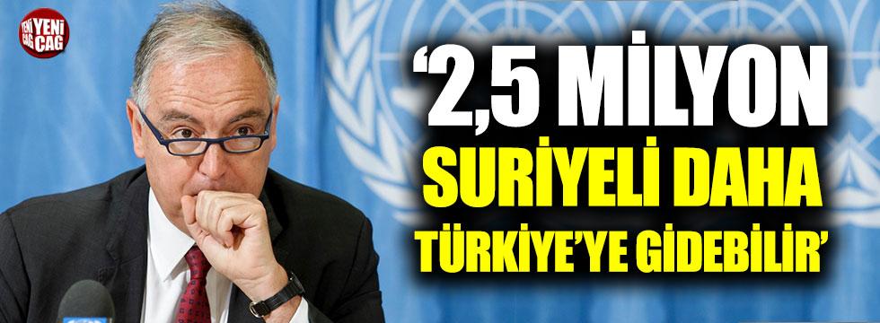 """Moumtzis """"2.5 milyon Suriyeli daha gelebilir"""