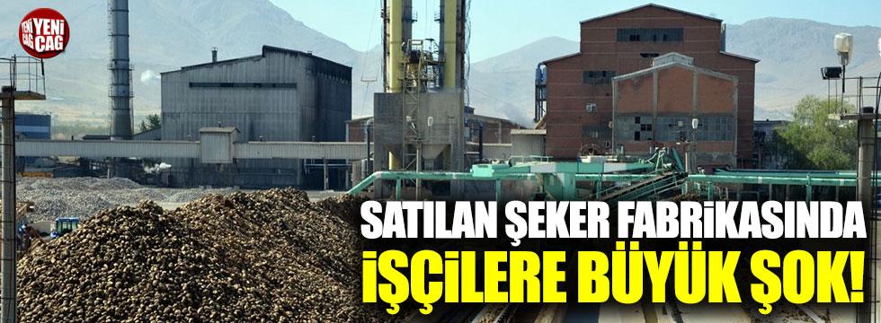 Şeker fabrikasında işçilere büyük şok