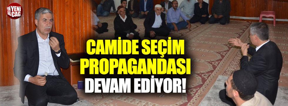 Camide seçim propagandası devam ediyor