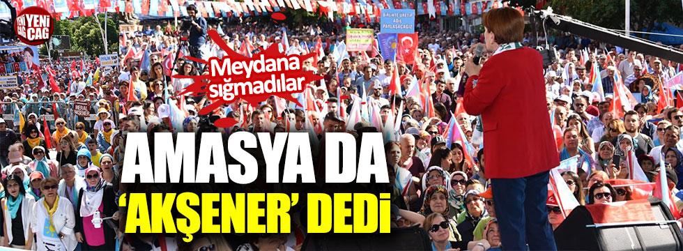 Amasya'da Akşener'e yoğun ilgi