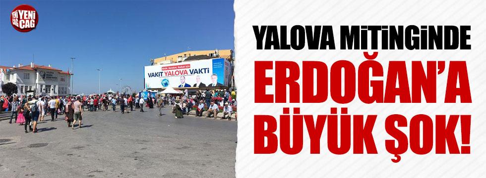 Yalova mitinginde Erdoğan'a büyük şok