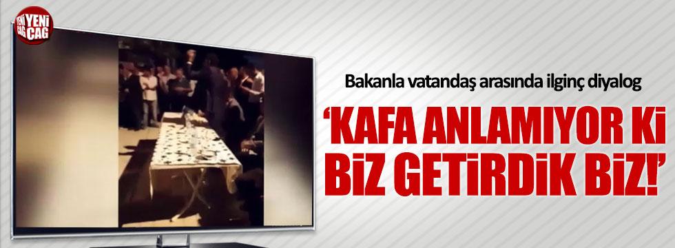 Bakan Tüfenkci ile vatandaş arasında ilginç diyalog