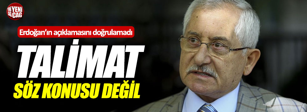 YSK, Erdoğan'ın açıklamalarını doğrulamadı