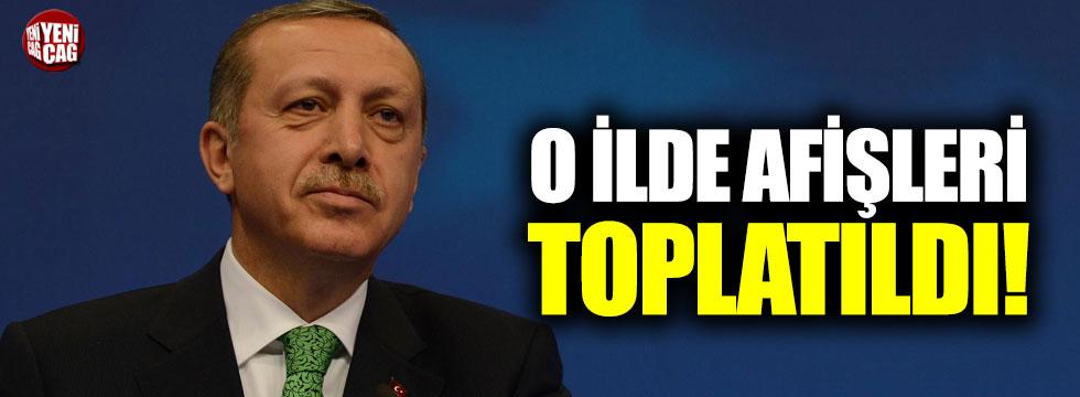O ilde AKP'nin afişlerini toplama kararı