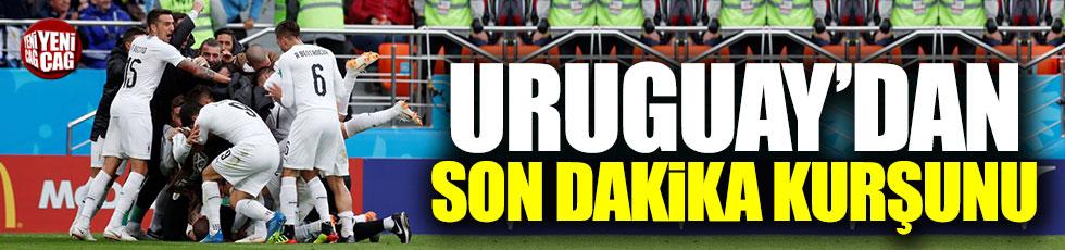 Uruguay son dakika golüyle güldü
