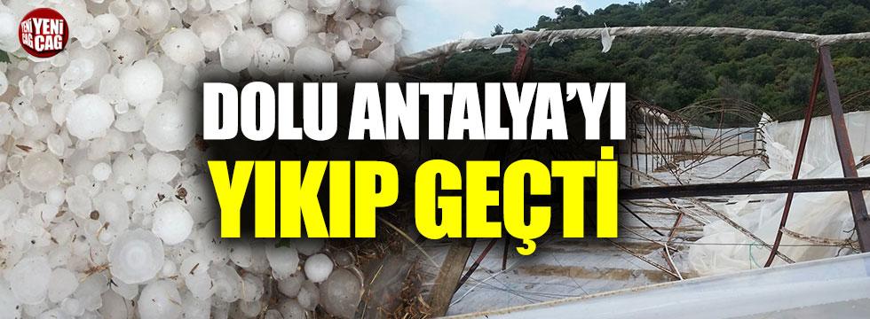 Antalya'da dolu fealketi