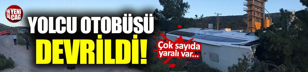 Yolcu otobüsü devrildi: 27 yaralı