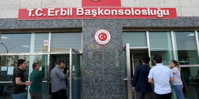 Erbil'de Türkler sandık başında
