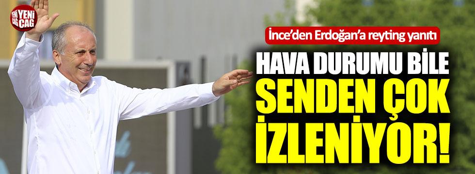 Muharrem İnce'den Erdoğan'a reyting yanıtı