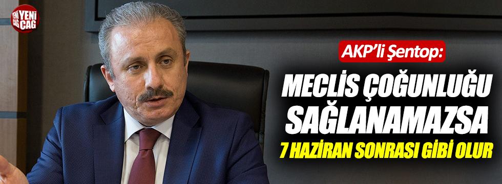 AKP'li Şentop'tan seçim açıklaması