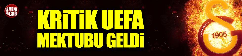 UEFA'dan kritik Galatasaray mektubu