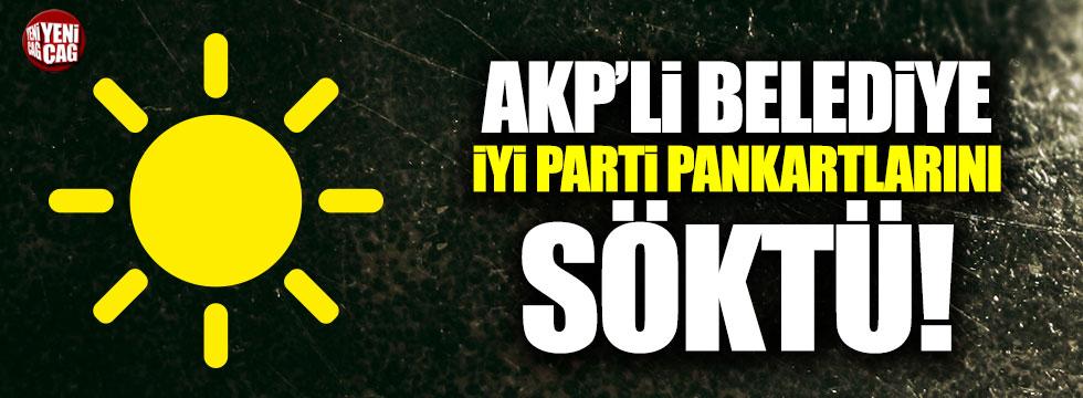 AKP'li belediye Kocaeli'de İYİ Parti pankartlarını söktü
