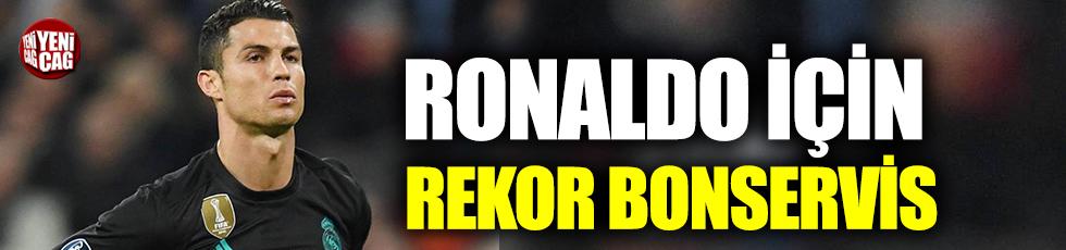 Ronaldo için rekor bonservis