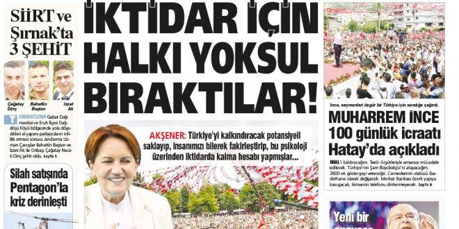 Günün Ulusal Gazete Manşetleri - 20 06 2018