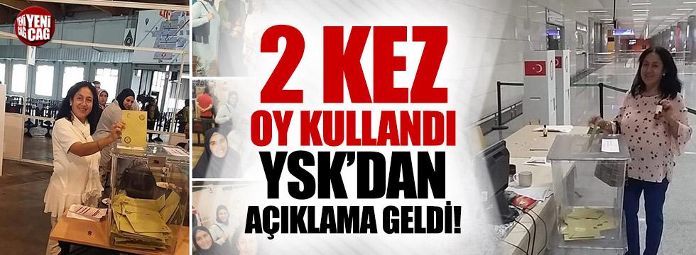 Hem yurt dışında hem Türkiye'de oy kullandı!