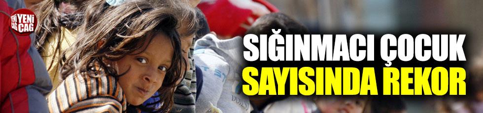 Sığınmacı çocuk sayısında rekor!