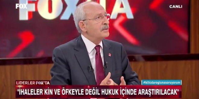 Kılıçdaroğlu: İhaleler 5 firma arasında pay ediliyor