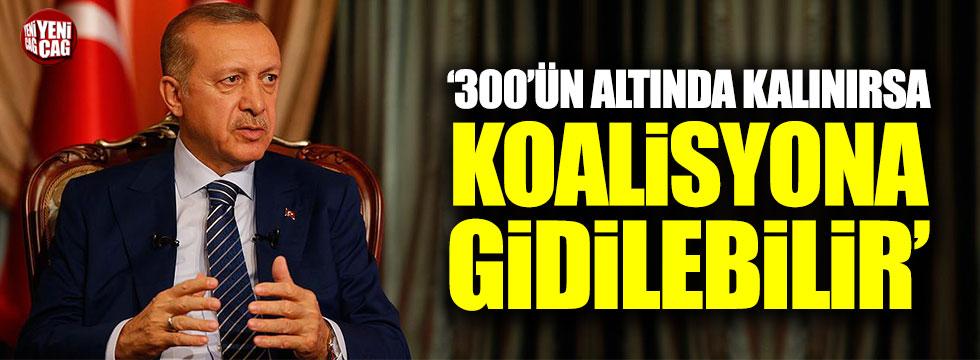 Erdoğan: Koalisyona gidilebilir