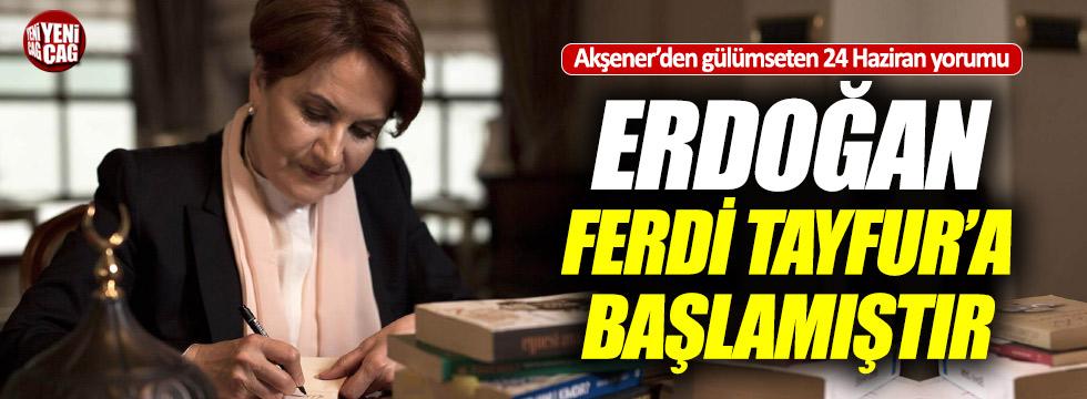"""Akşener: """"Erdoğan Ferdi Tayfur'a geçiş yapmış olabilir"""""""