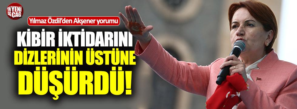 """Yılmaz Özdil'den Akşener yorumu: """"Alayının hakkından geldi"""""""