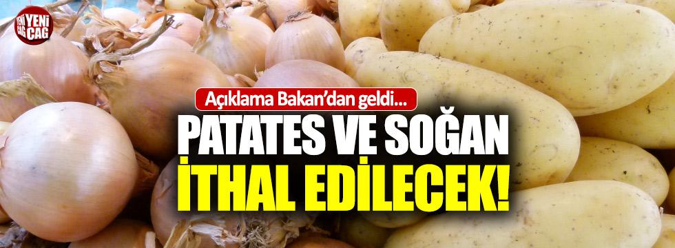 Bakan açıkladı: Patates ve soğan ithal edilecek