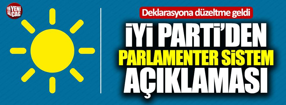 İYİ Parti'den ortak deklarasyona düzeltme