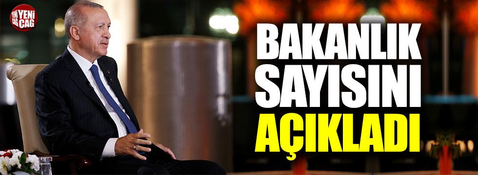 Erdoğan: Bakanlık sayısını azaltacağız