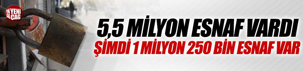 """Kılıçdaroğlu: """"5,5 milyon esnaf vardı, şimdi 1 milyon 250 bin esnaf var"""""""