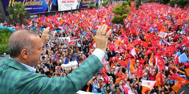 """Erdoğan'dan İnce'nin mitingine: """"500 kişi yok"""""""