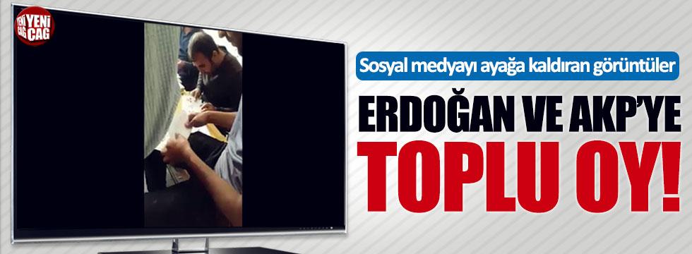 Erzurum'da toplu oy kullanıldı iddiası