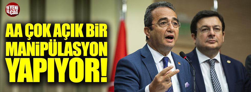 CHP Sözcüsü Tezcan: AA manipülasyon yapıyor