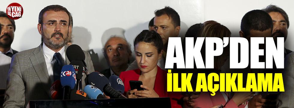 AKP'den ilk açıklama