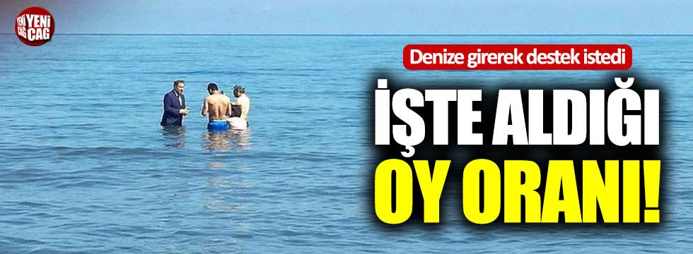 Denizde seçim çalışması yapan Saadet Partisi'nin oy oranı