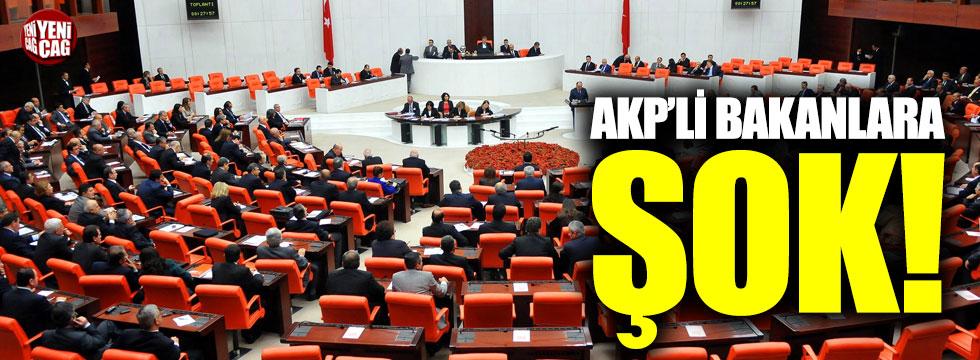 AKP'li Bakanlara şok!