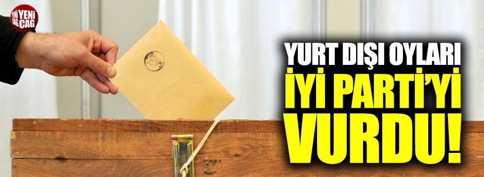 Yurt dışı oyları İYİ Parti'yi vurdu!
