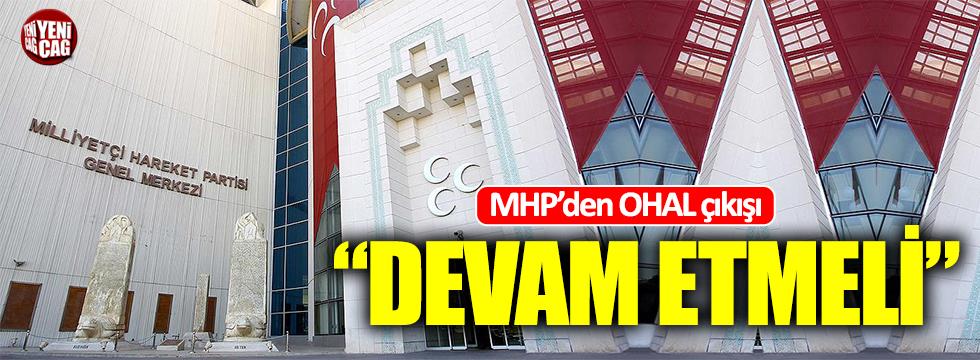 MHP'den OHAL açıklaması