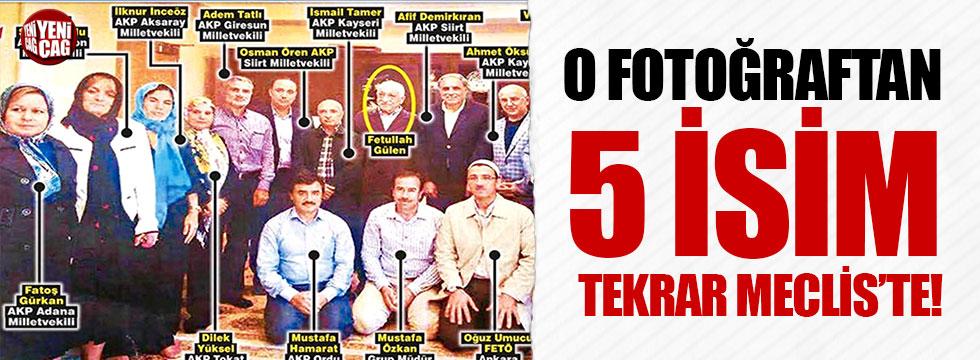 Gülen'le görüşen 5 AKP'li tekrar Meclis'te
