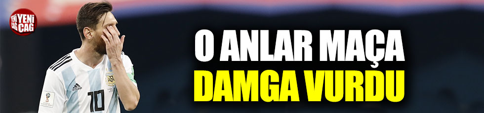 Messi'nin Sampaoli ile diyaloğu maça damga vurdu