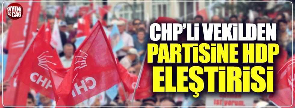 CHP'li Bayır'dan partisine HDP eleştirisi