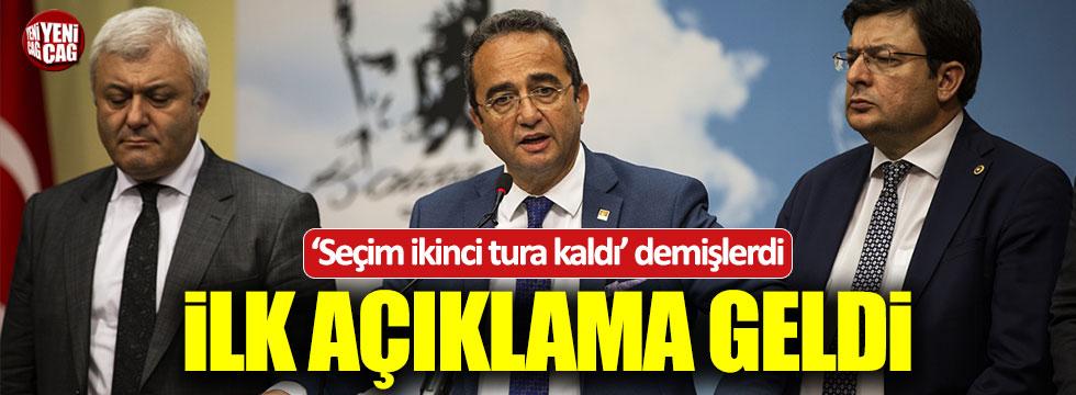 """CHP'den """"Seçim 2. tura kaldı"""" sözleriyle ilgili açıklama"""