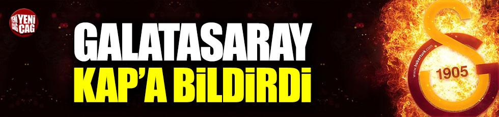 Galatasaray Muğdat'ı KAP'a bildirdi