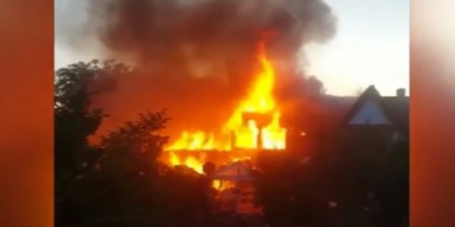 Almanya'da bir evde patlama!