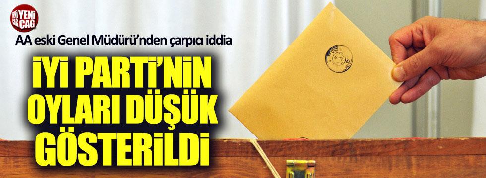 AA eski Genel Müdürü Öztürk: İYİ Parti'nin oyları düşük gösterildi