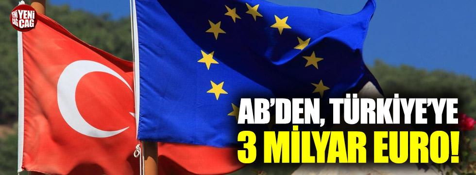 AB'den Türkiye'ye 3 milyar  dolar