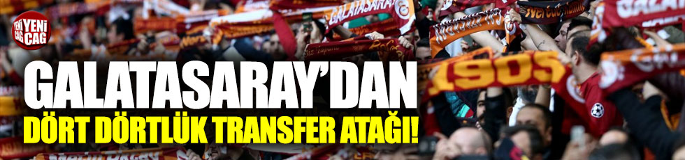 Galatasaray, 4 transfer için masada