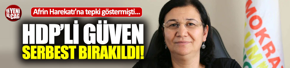 HDP'li Leyla Güven'e tahliye