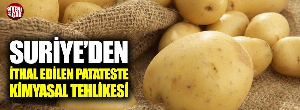 Suriye'den ithal edilen patateste kimyasal tehlikesi