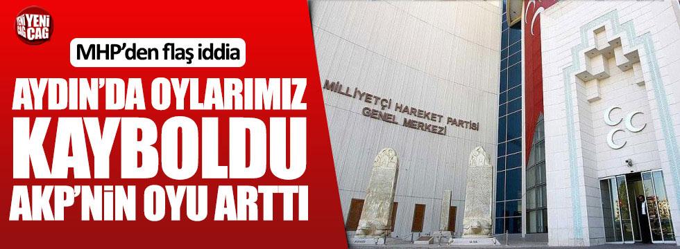 MHP: Aydın'da oylarımız kayboldu, AKP'nin oyu arttı