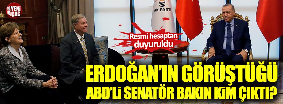 Erdoğan'ın görüştüğü ABD'li senatör bakın kim çıktı?